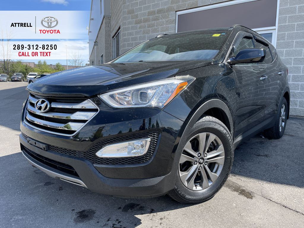 Silver[Moonstone Silver] 2015 Hyundai Santa Fe cleaned