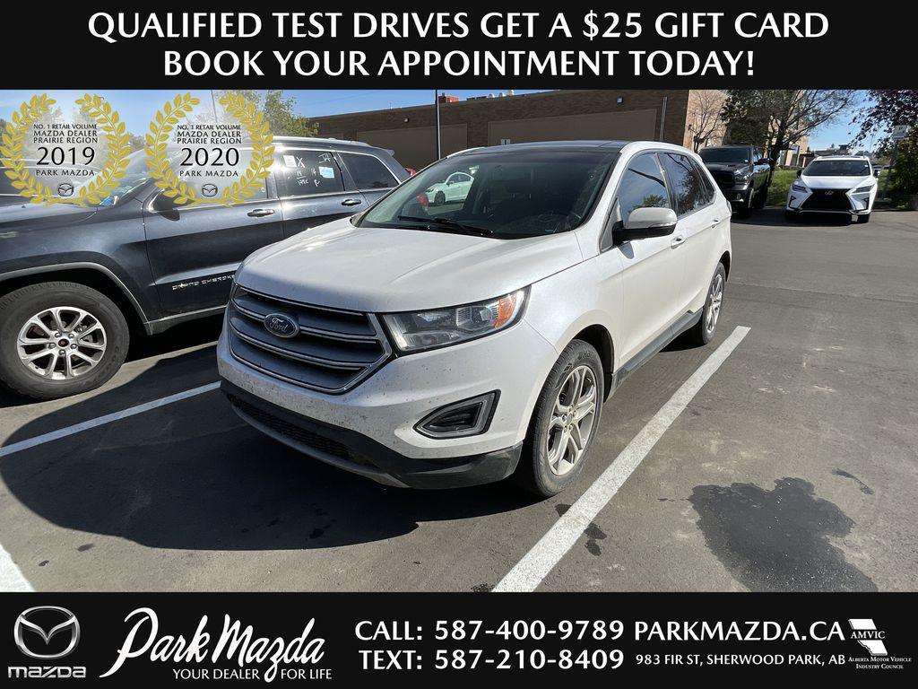 WHITE 2017 Ford Edge Titanium