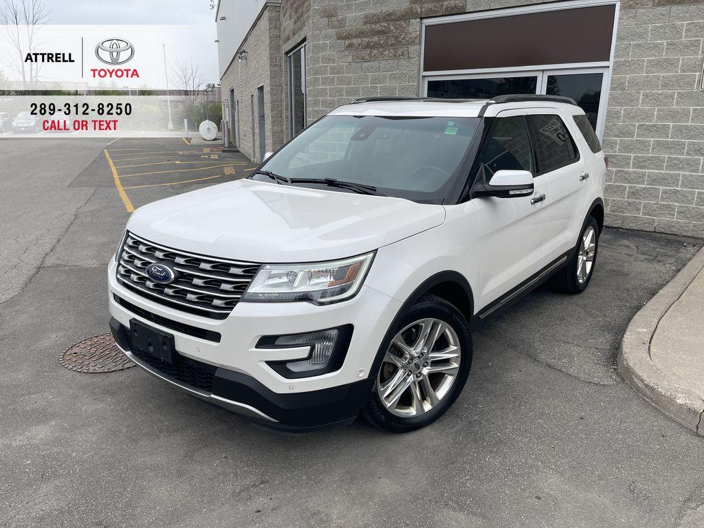 White[White Platinum Metallic Tri-Coat] 2017 Ford Explorer clean
