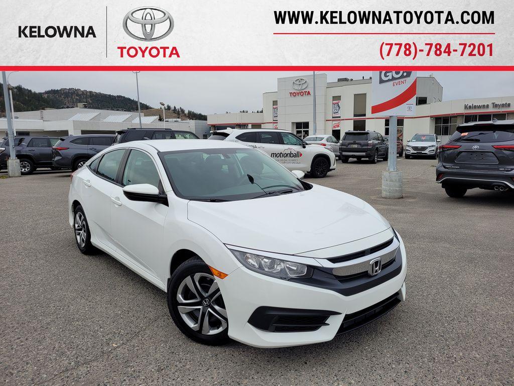 White 2018 Honda Civic LX Sedan