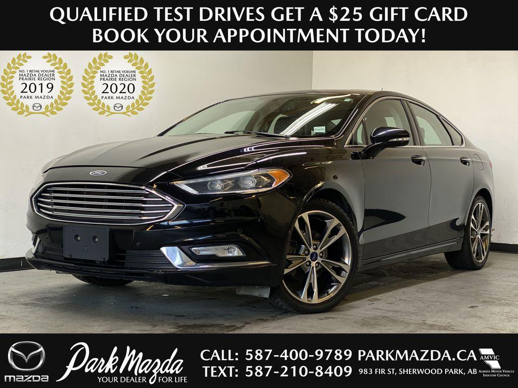 BLACK 2017 Ford Fusion Titanium AWD - Remote Start, Backup Camera, Navigation