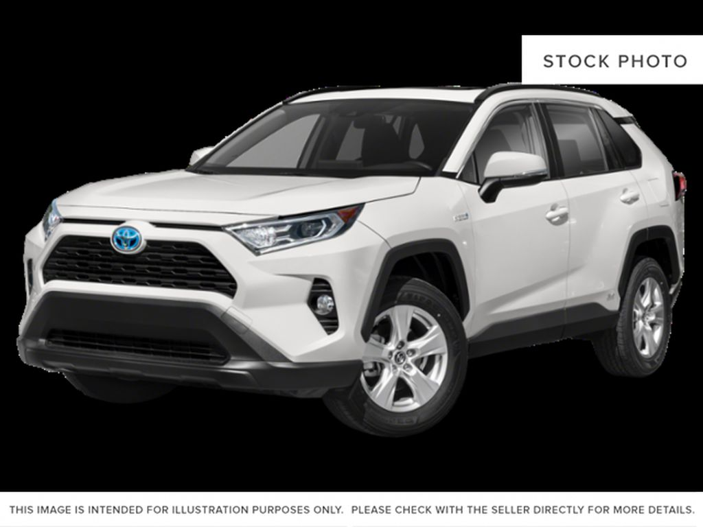 White[Blizzard Pearl w/Black Roof] 2021 Toyota RAV4 XLE Hybrid