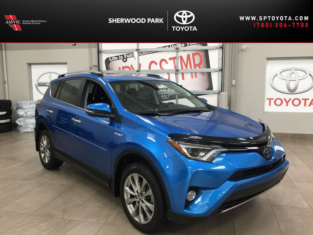 Blue[Electric Storm Blue] 2018 Toyota RAV4 Limited Hybrid