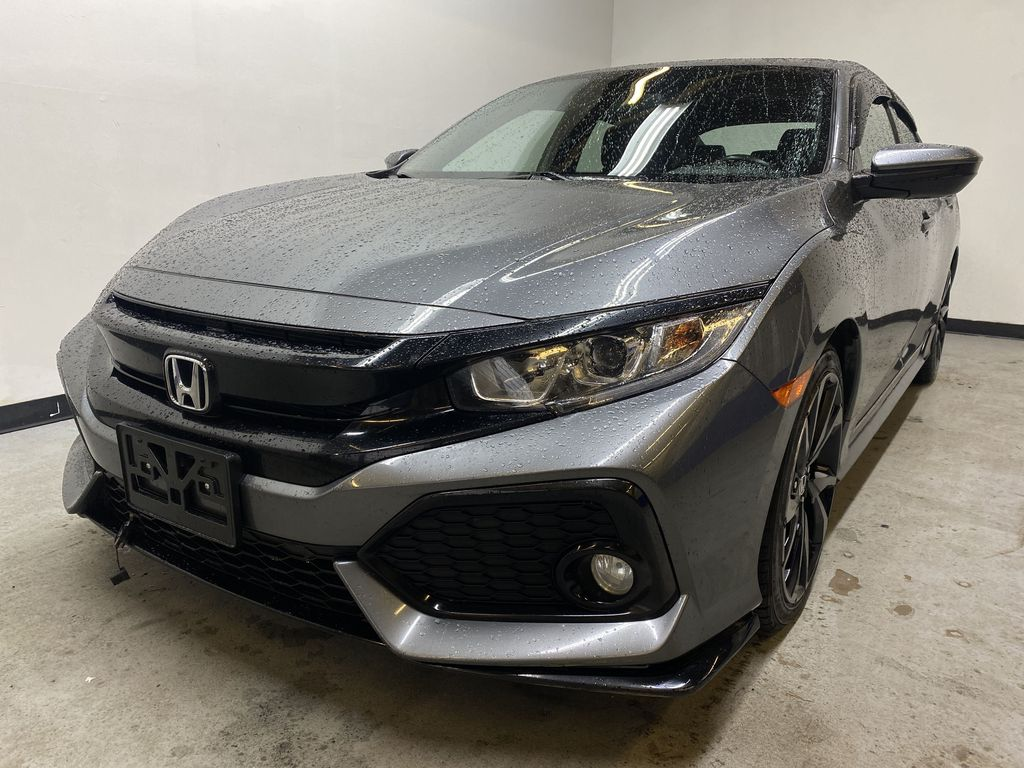 GREY 2018 Honda Civic Hatchback Sport - 6 Speed Manual, Backup Camera, Heated Seats Left Front Head Light / Bumper and Grill in Edmonton AB