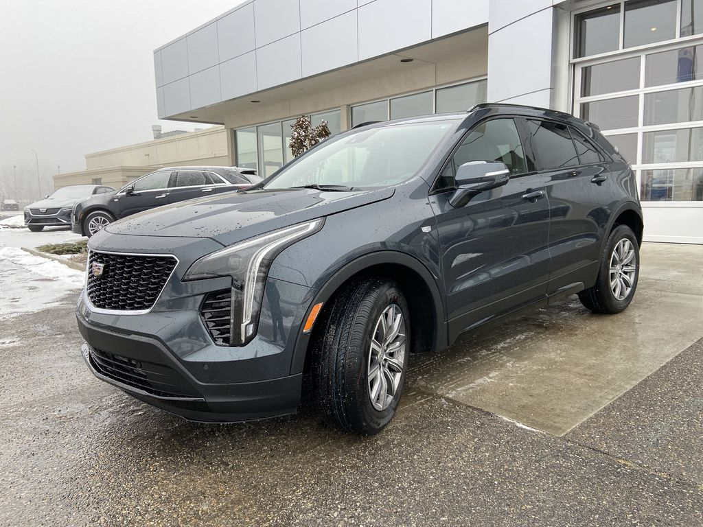 Gray[Shadow Metallic] 2021 Cadillac XT4 Sport Left Front Head Light / Bumper and Grill in Calgary AB