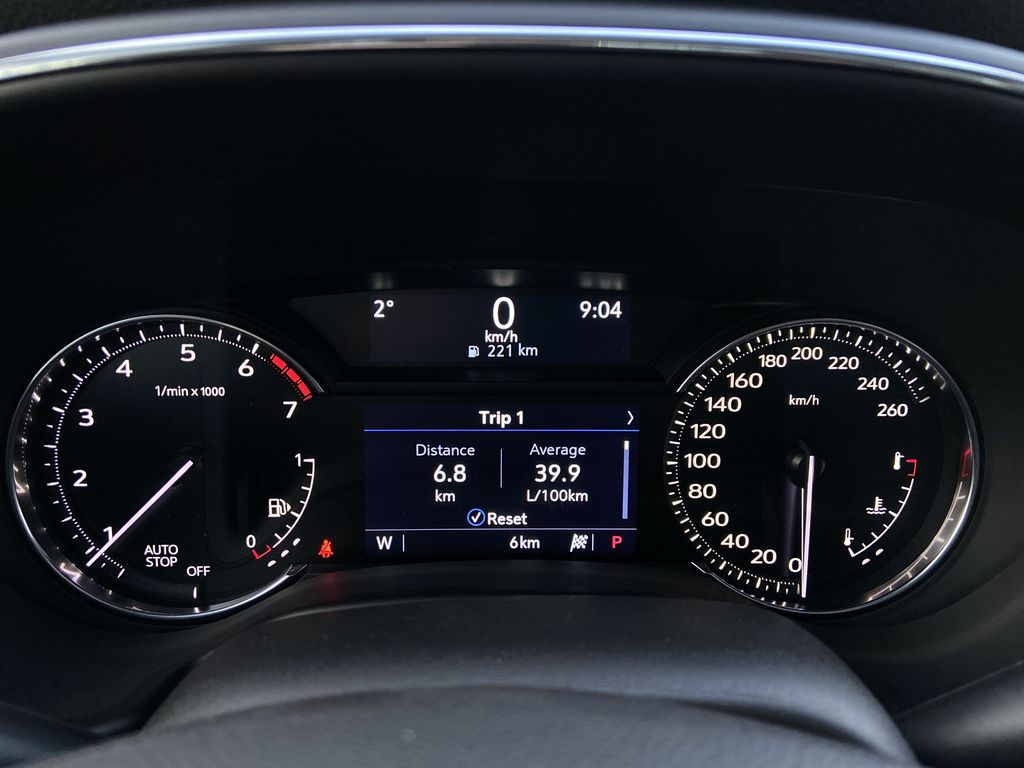 White[Crystal White Tricoat] 2021 Cadillac CT5 Sport Odometer Photo in Calgary AB