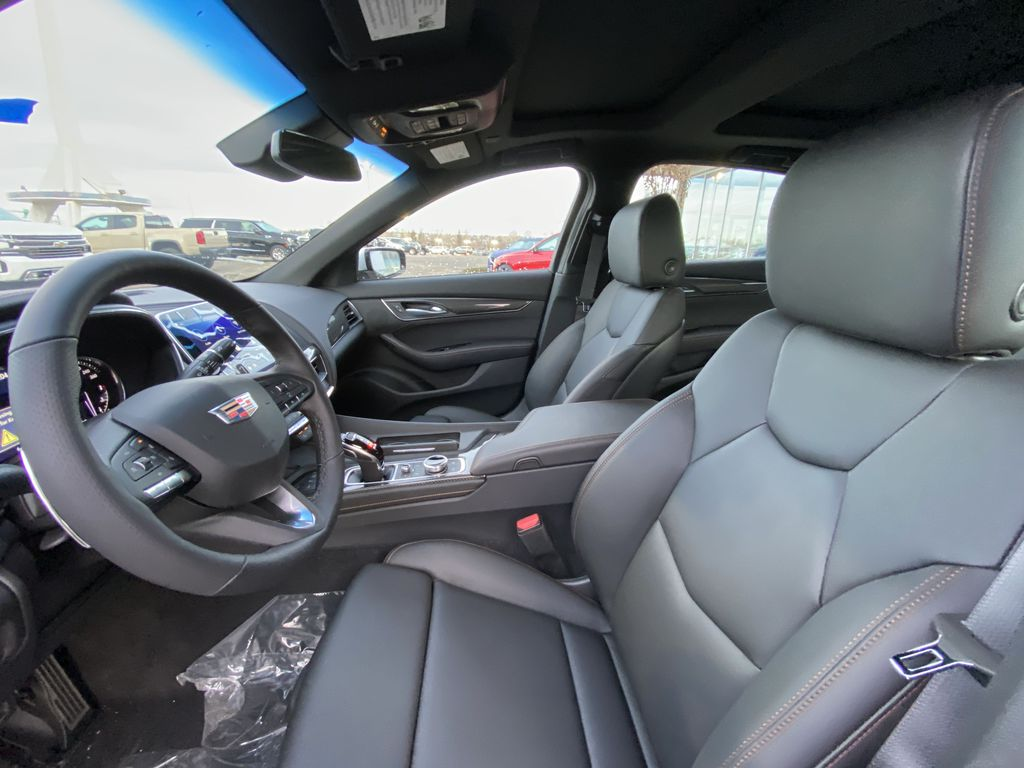 White[Crystal White Tricoat] 2021 Cadillac CT5 Sport Left Front Interior Photo in Calgary AB