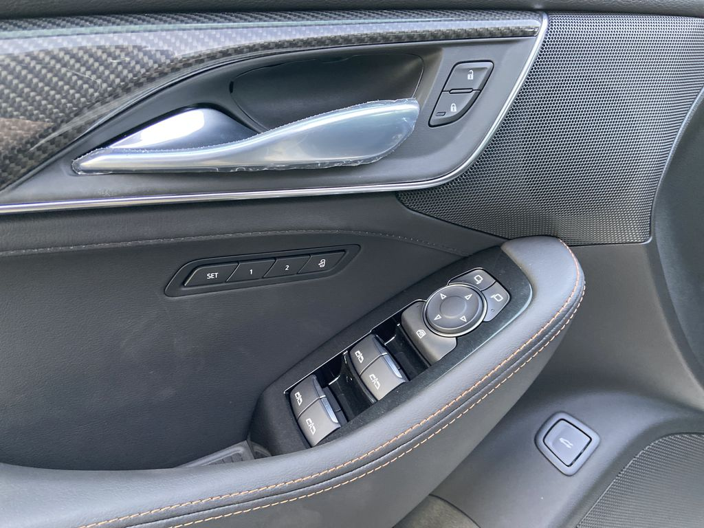 White[Crystal White Tricoat] 2021 Cadillac CT5 Sport  Driver's Side Door Controls Photo in Calgary AB