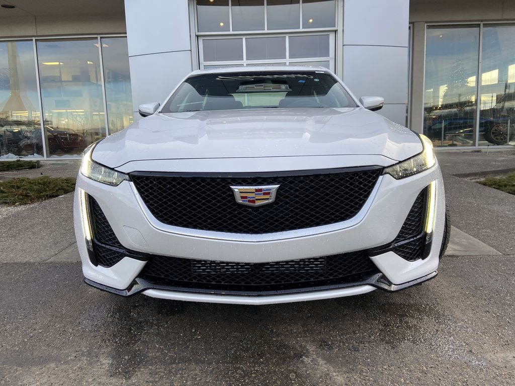 White[Crystal White Tricoat] 2021 Cadillac CT5 Sport Front Vehicle Photo in Calgary AB
