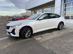 White[Crystal White Tricoat] 2021 Cadillac CT5 Sport Left Front Corner Photo in Calgary AB