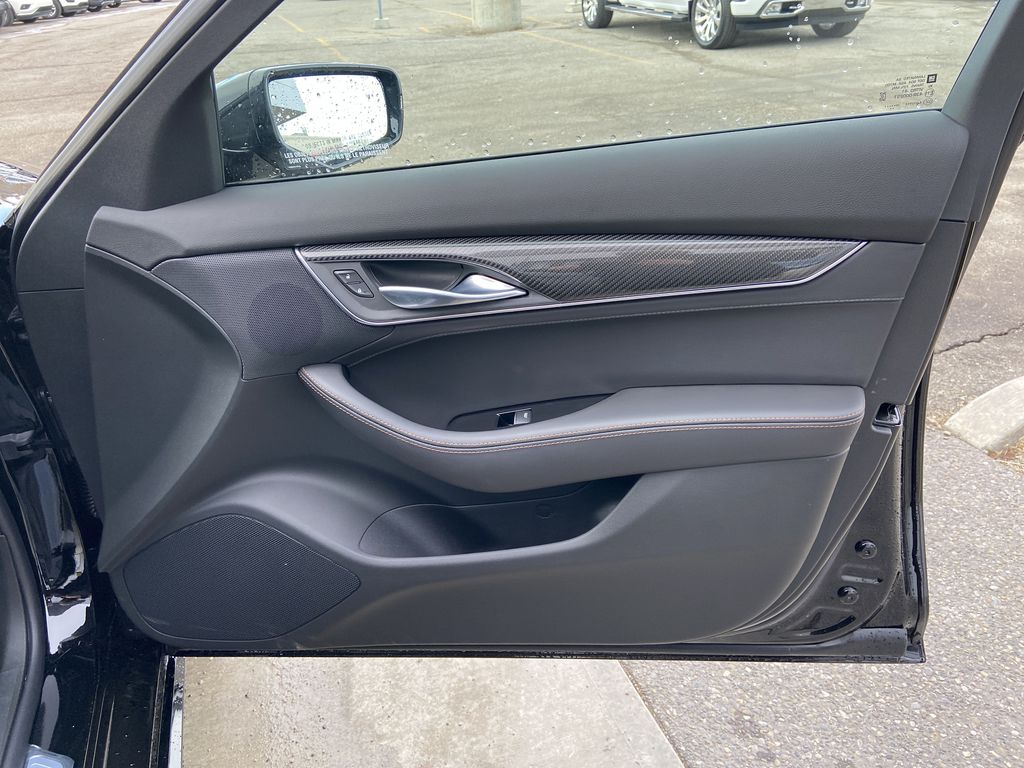 Black[Black Raven] 2021 Cadillac CT5 Sport Right Front Interior Door Panel Photo in Calgary AB