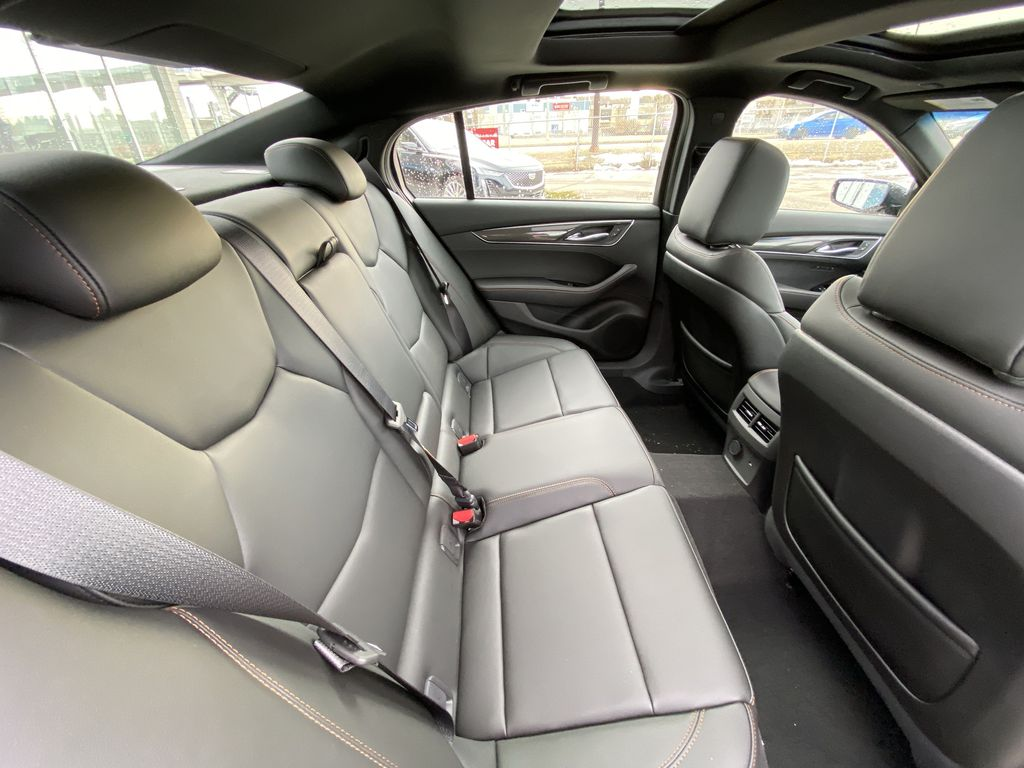 Black[Black Raven] 2021 Cadillac CT5 Sport Right Side Rear Seat  Photo in Calgary AB