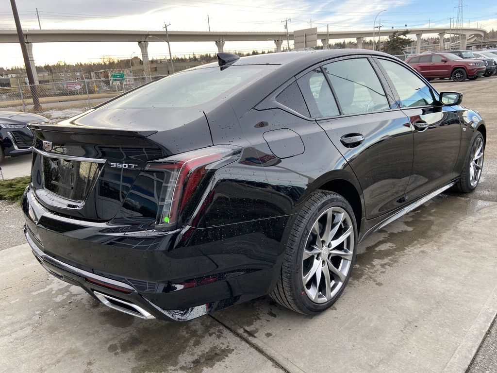 Black[Black Raven] 2021 Cadillac CT5 Sport Right Rear Corner Photo in Calgary AB