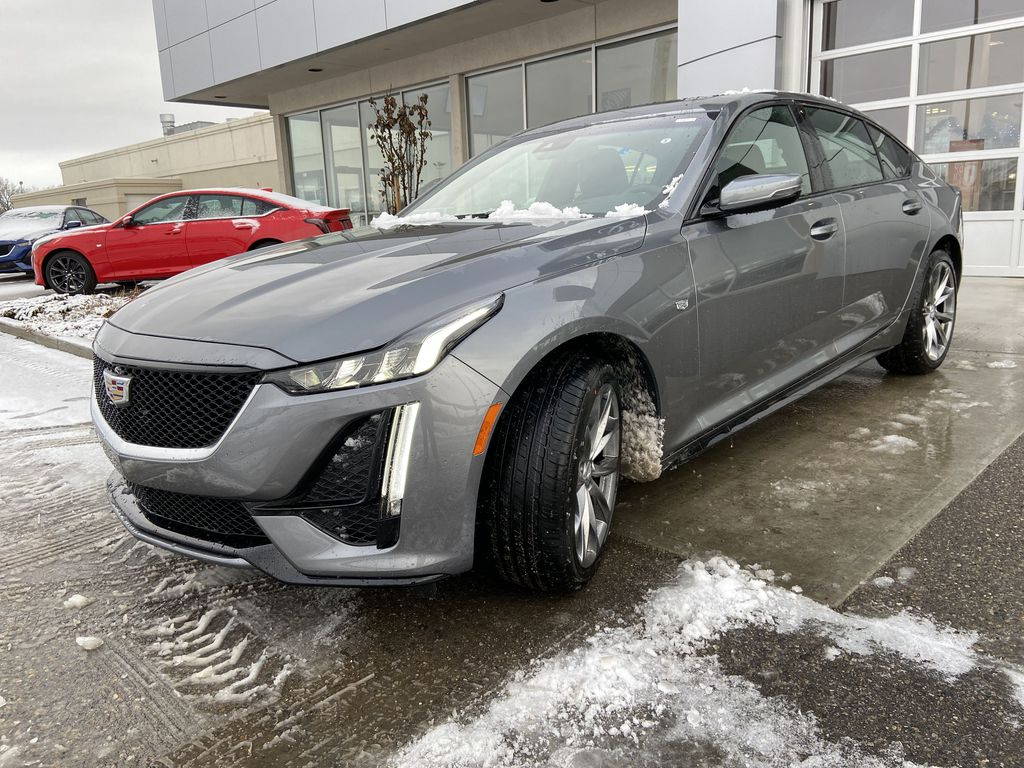 Gray[Satin Steel Metallic] 2021 Cadillac CT5 Sport Left Front Head Light / Bumper and Grill in Calgary AB