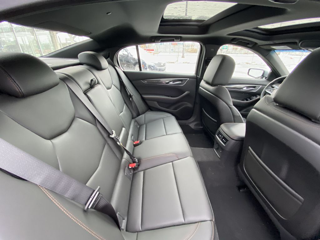 Gray[Satin Steel Metallic] 2021 Cadillac CT5 Sport Right Side Rear Seat  Photo in Calgary AB