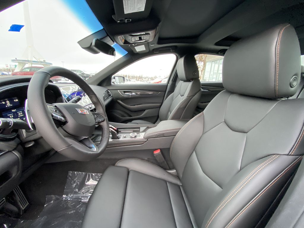 Gray[Satin Steel Metallic] 2021 Cadillac CT5 Sport Left Front Interior Photo in Calgary AB