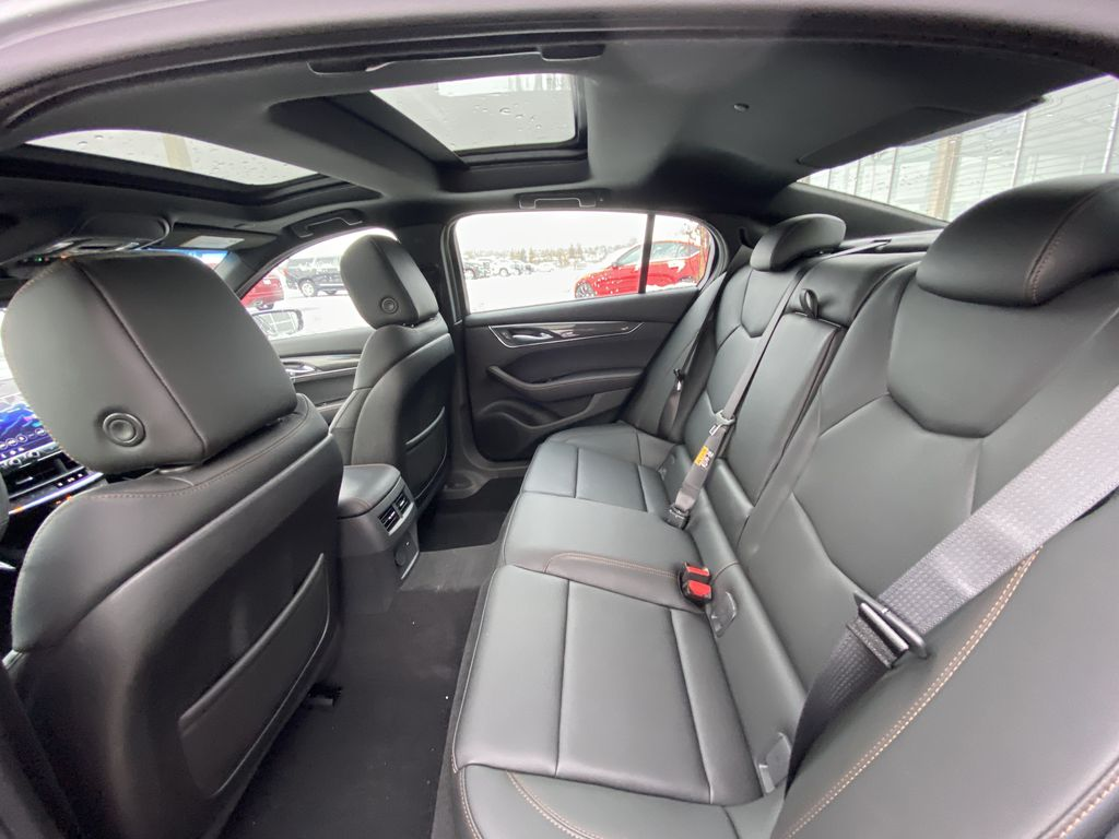 Gray[Satin Steel Metallic] 2021 Cadillac CT5 Sport Left Side Rear Seat  Photo in Calgary AB