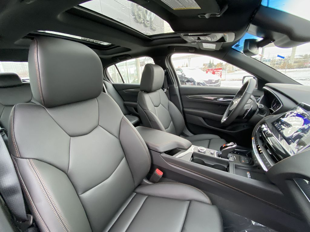 Gray[Satin Steel Metallic] 2021 Cadillac CT5 Sport Right Side Front Seat  Photo in Calgary AB