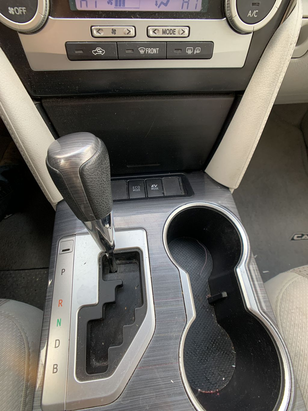 Silver 2014 Toyota Camry Hybrid Center Console Photo in Brampton ON