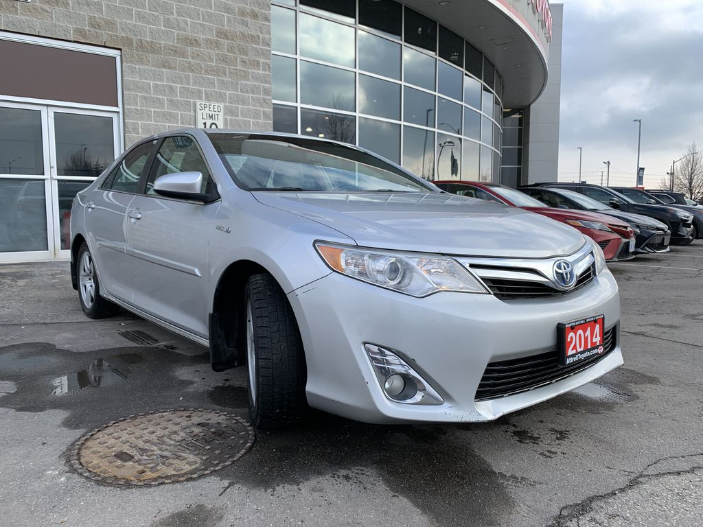 Silver 2014 Toyota Camry Hybrid Engine Compartment Photo in Brampton ON