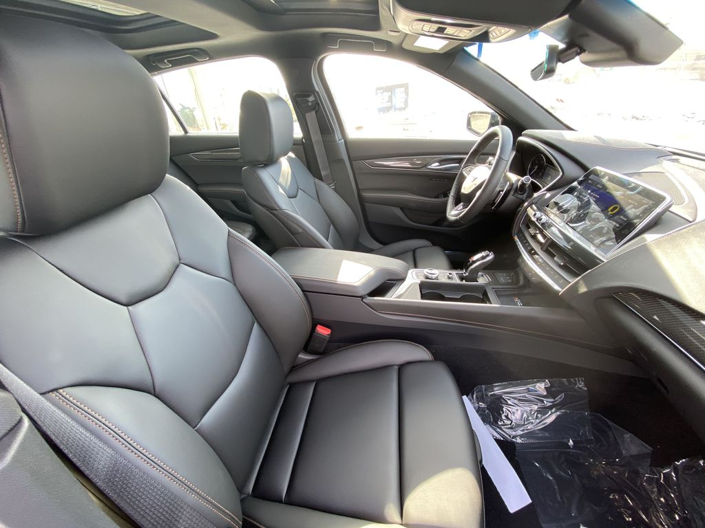 Green[Evergreen Metallic] 2021 Cadillac CT5 Sport Right Side Front Seat  Photo in Calgary AB