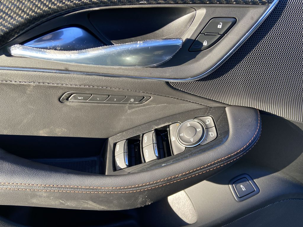 Black[Black Raven] 2021 Cadillac CT5 Sport  Driver's Side Door Controls Photo in Calgary AB