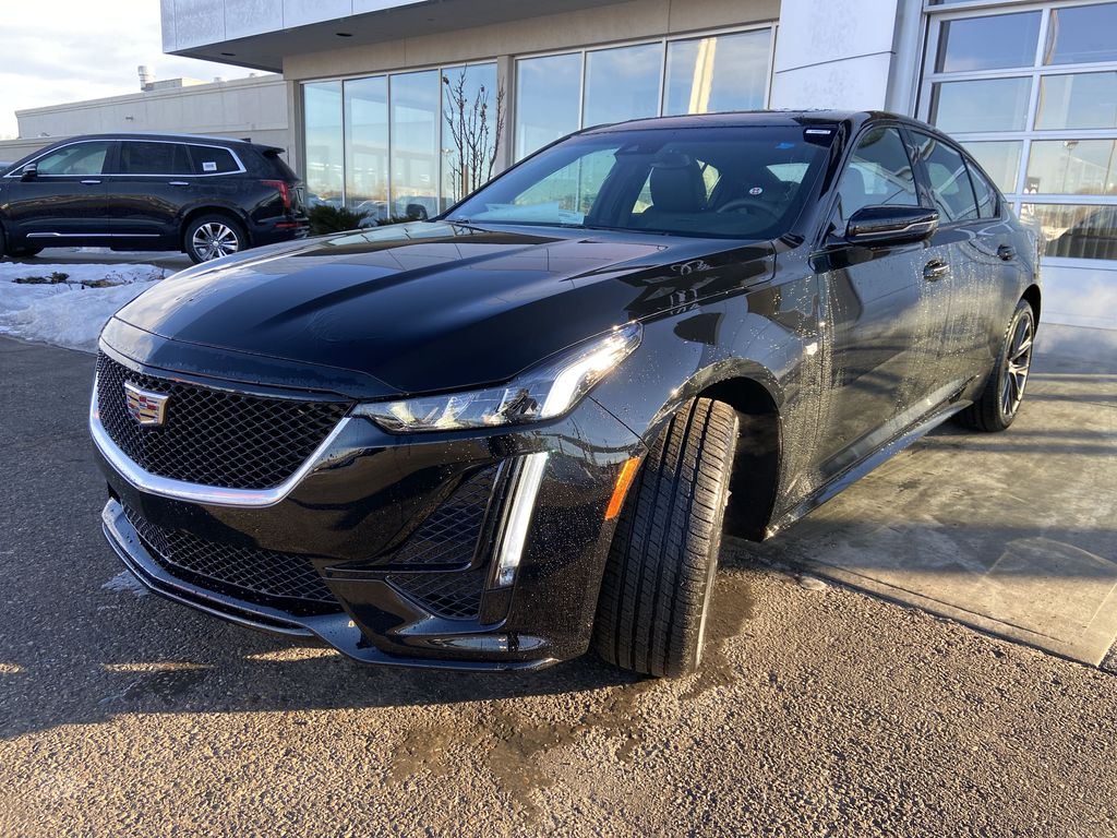 Black[Black Raven] 2021 Cadillac CT5 Sport Left Front Head Light / Bumper and Grill in Calgary AB