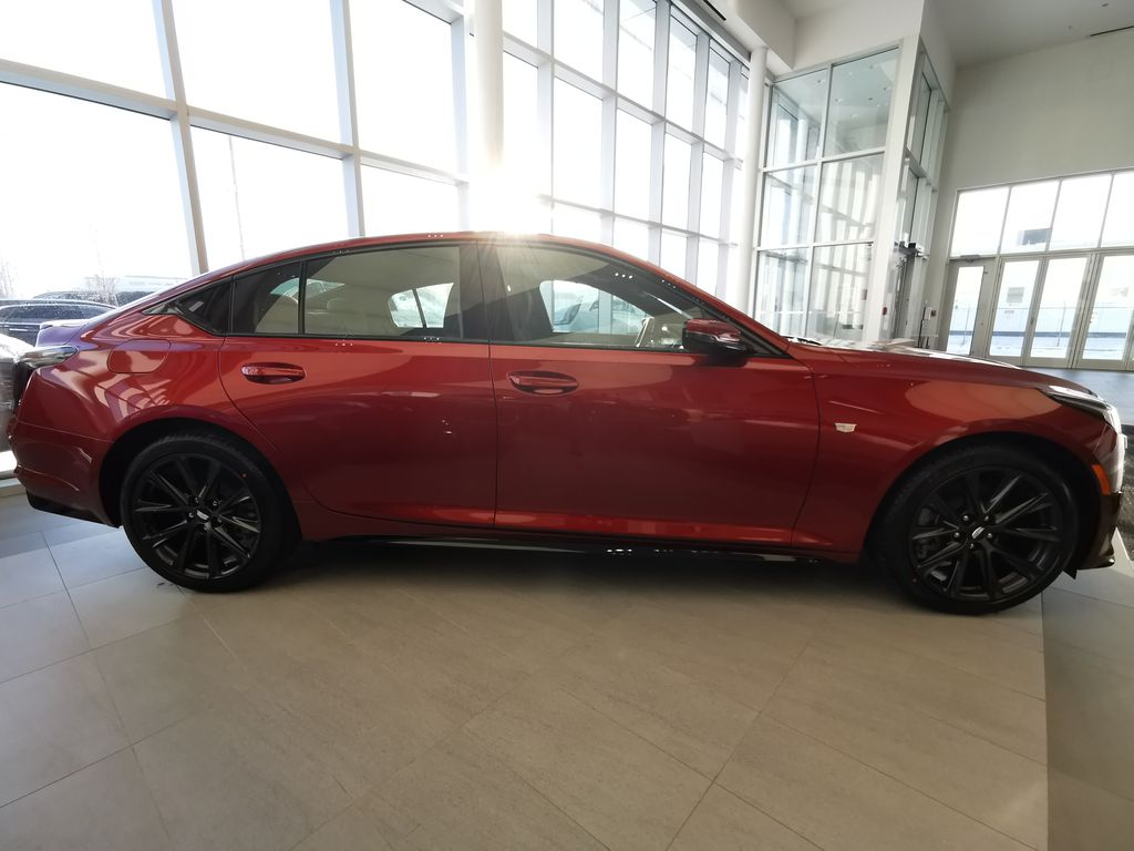Red[Infrared Tintcoat] 2021 Cadillac CT5 Right Side Photo in Edmonton AB