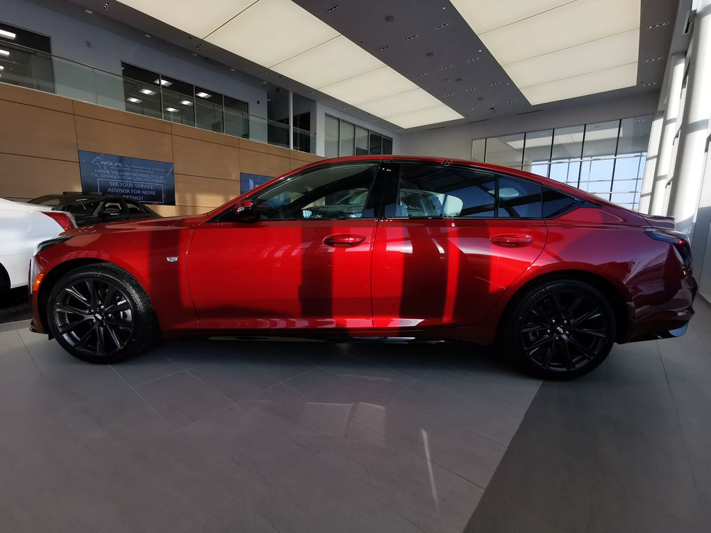 Red[Infrared Tintcoat] 2021 Cadillac CT5 Left Side Photo in Edmonton AB