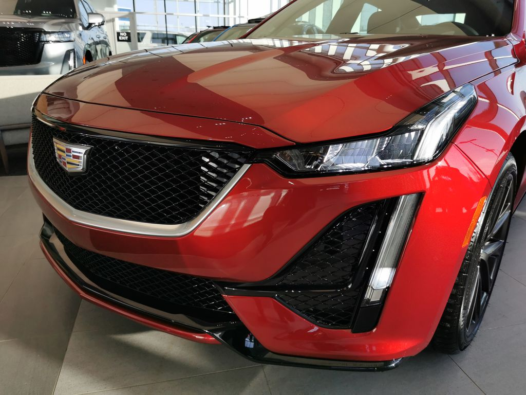 Red[Infrared Tintcoat] 2021 Cadillac CT5 Left Front Head Light / Bumper and Grill in Edmonton AB