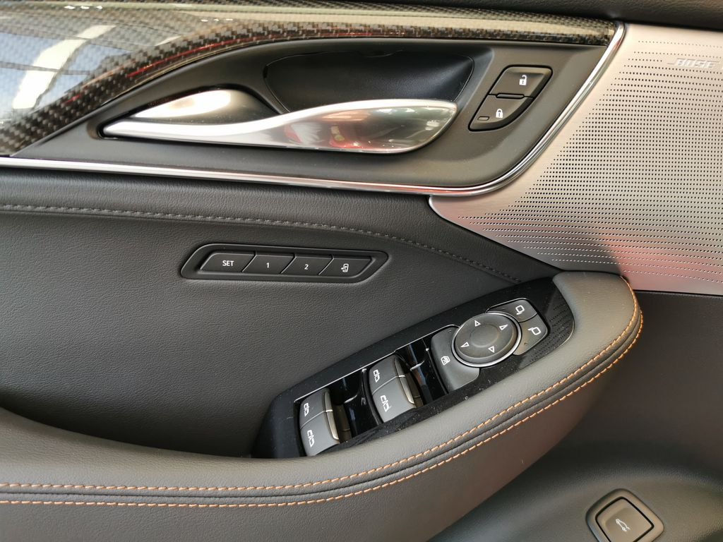 Red[Infrared Tintcoat] 2021 Cadillac CT5  Driver's Side Door Controls Photo in Edmonton AB