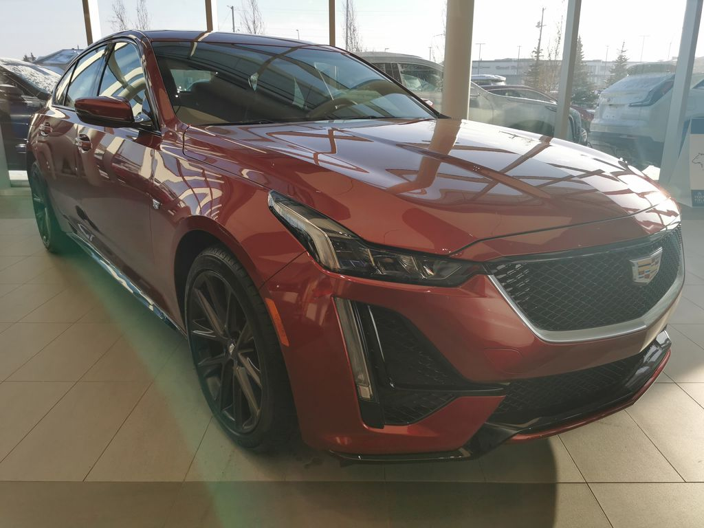 Red[Infrared Tintcoat] 2021 Cadillac CT5 Right Front Corner Photo in Edmonton AB