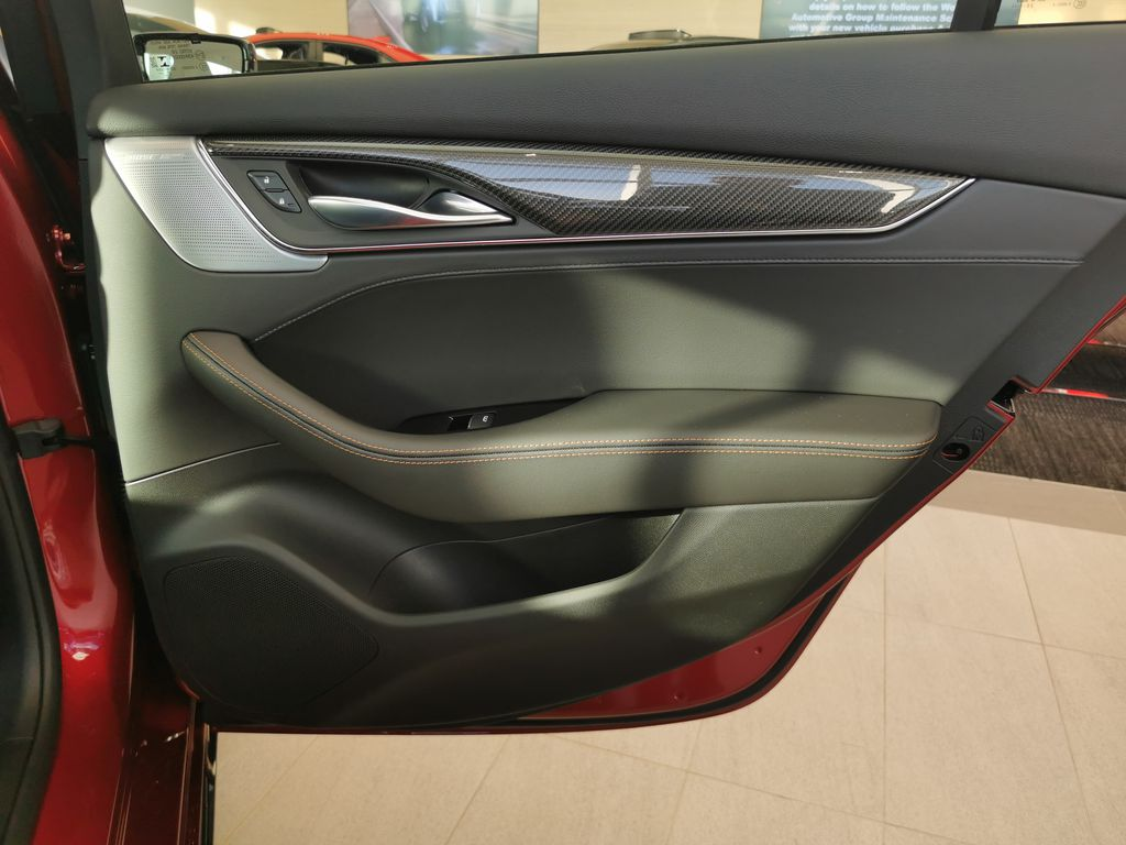 Red[Infrared Tintcoat] 2021 Cadillac CT5 Right Rear Interior Door Panel Photo in Edmonton AB