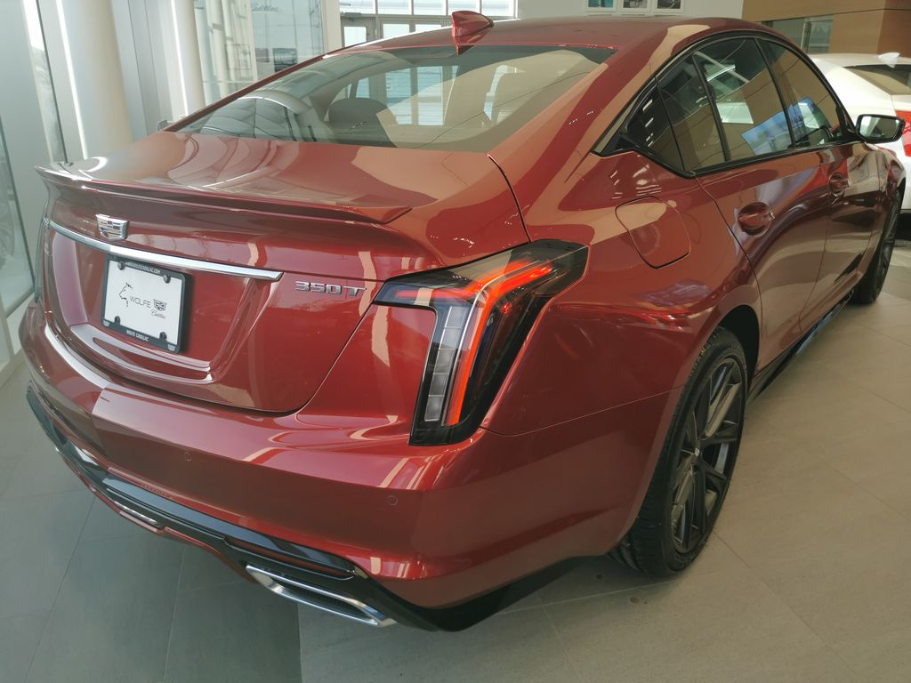 Red[Infrared Tintcoat] 2021 Cadillac CT5 Right Rear Corner Photo in Edmonton AB