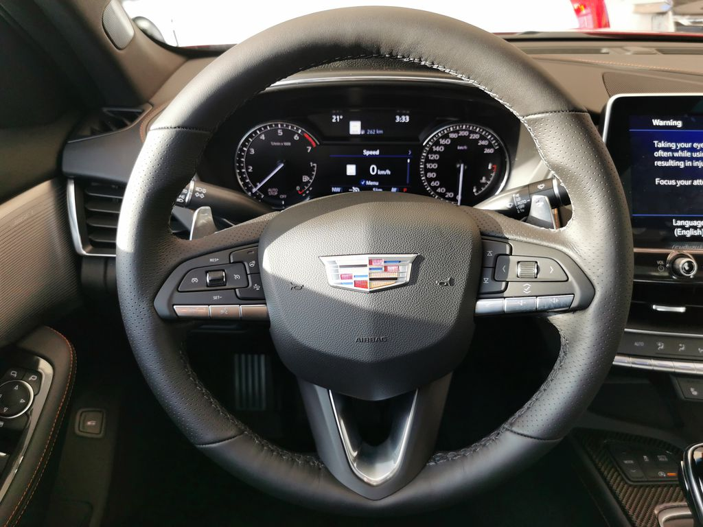 Red[Infrared Tintcoat] 2021 Cadillac CT5 Steering Wheel and Dash Photo in Edmonton AB