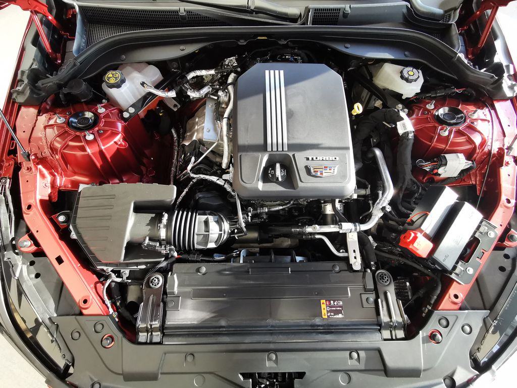 Red[Infrared Tintcoat] 2021 Cadillac CT5 Engine Compartment Photo in Edmonton AB