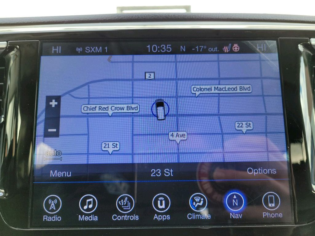Black 2017 Chrysler Pacifica Central Dash Options Photo in Fort Macleod AB