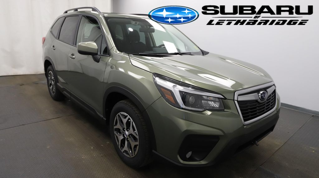 Green 2021 Subaru Forester Left Front Rim and Tire Photo in Lethbridge AB