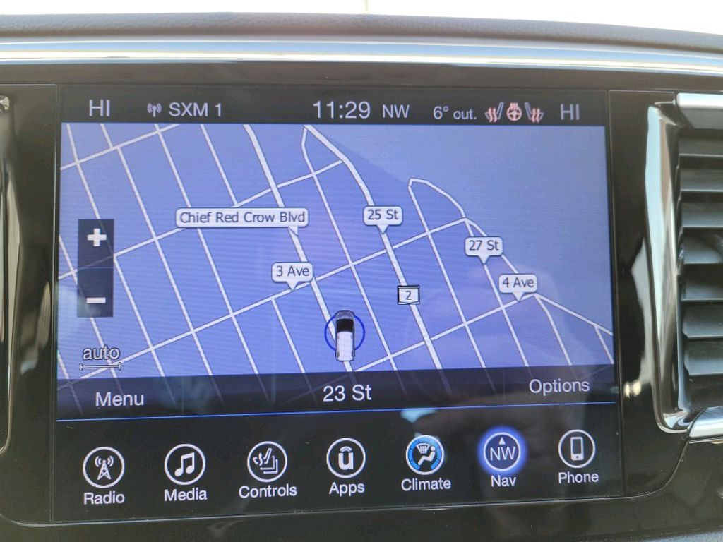 Red 2017 Chrysler Pacifica Radio Controls Closeup Photo in Fort Macleod AB