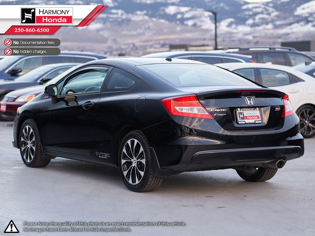 Black - Crystal Black Pearl 2013 Honda Civic Coupe Trunk / Cargo Area Photo in Kelowna BC