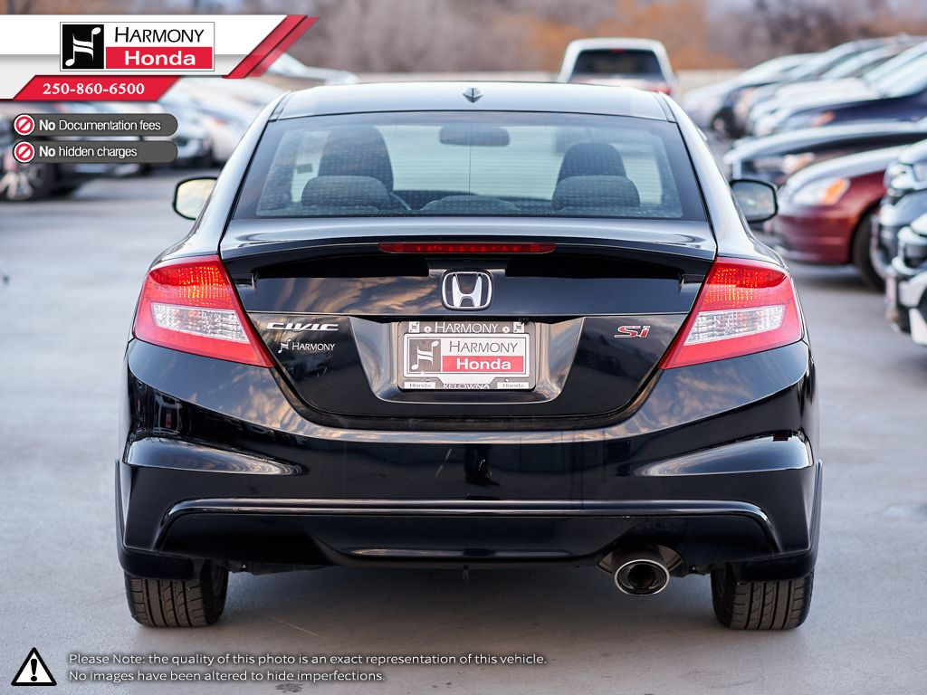 Black - Crystal Black Pearl 2013 Honda Civic Coupe Left Rear Corner Photo in Kelowna BC