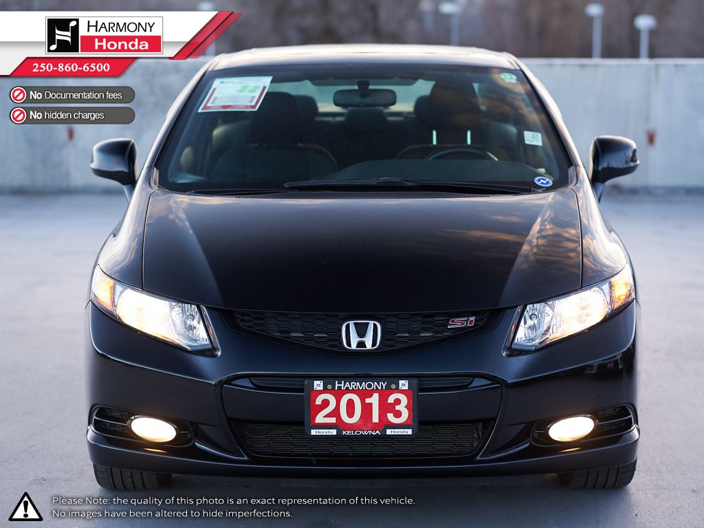 Black - Crystal Black Pearl 2013 Honda Civic Coupe Left Front Interior Photo in Kelowna BC