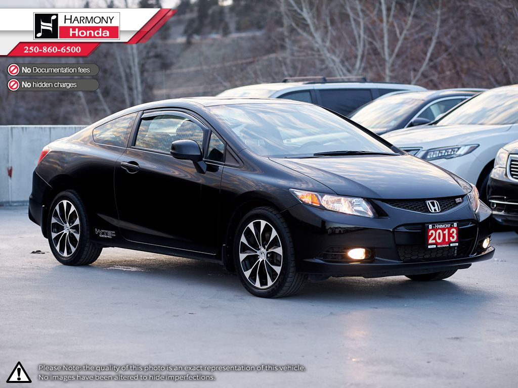 Black - Crystal Black Pearl 2013 Honda Civic Coupe Odometer Photo in Kelowna BC