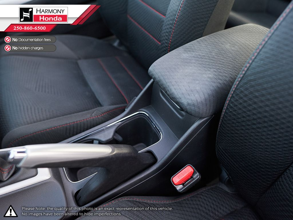 Black - Crystal Black Pearl 2013 Honda Civic Coupe Front Seats and Dash Photo in Kelowna BC