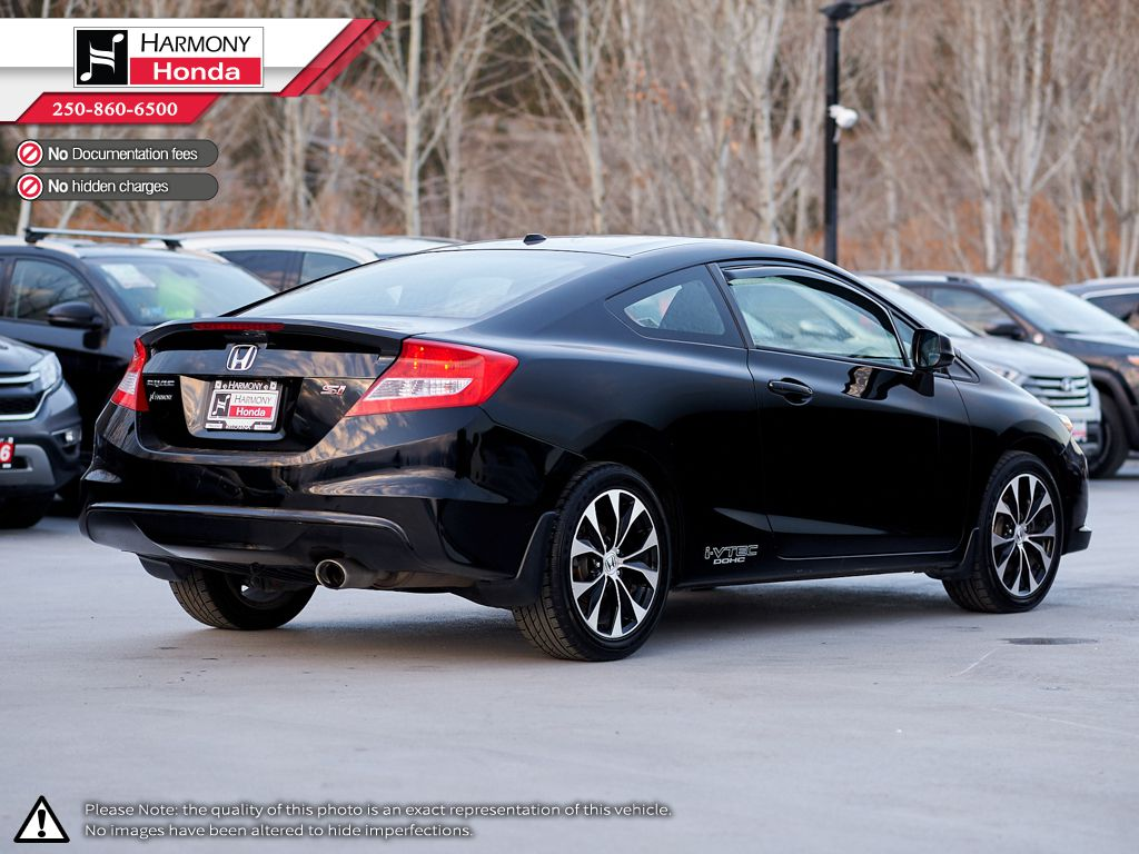 Black - Crystal Black Pearl 2013 Honda Civic Coupe Left Side Photo in Kelowna BC