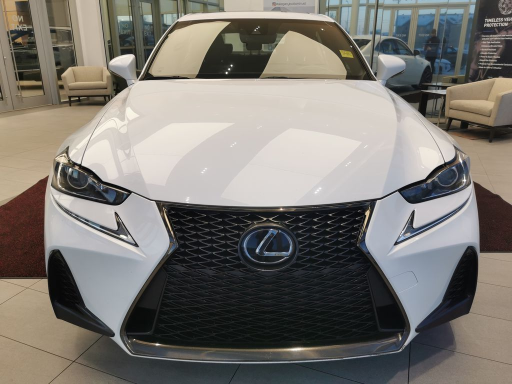 White[Eminent White Pearl] 2018 Lexus IS Front Vehicle Photo in Edmonton AB