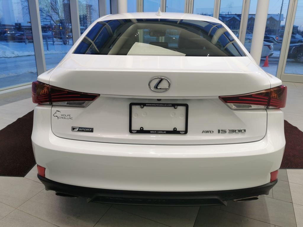 White[Eminent White Pearl] 2018 Lexus IS Rear of Vehicle Photo in Edmonton AB