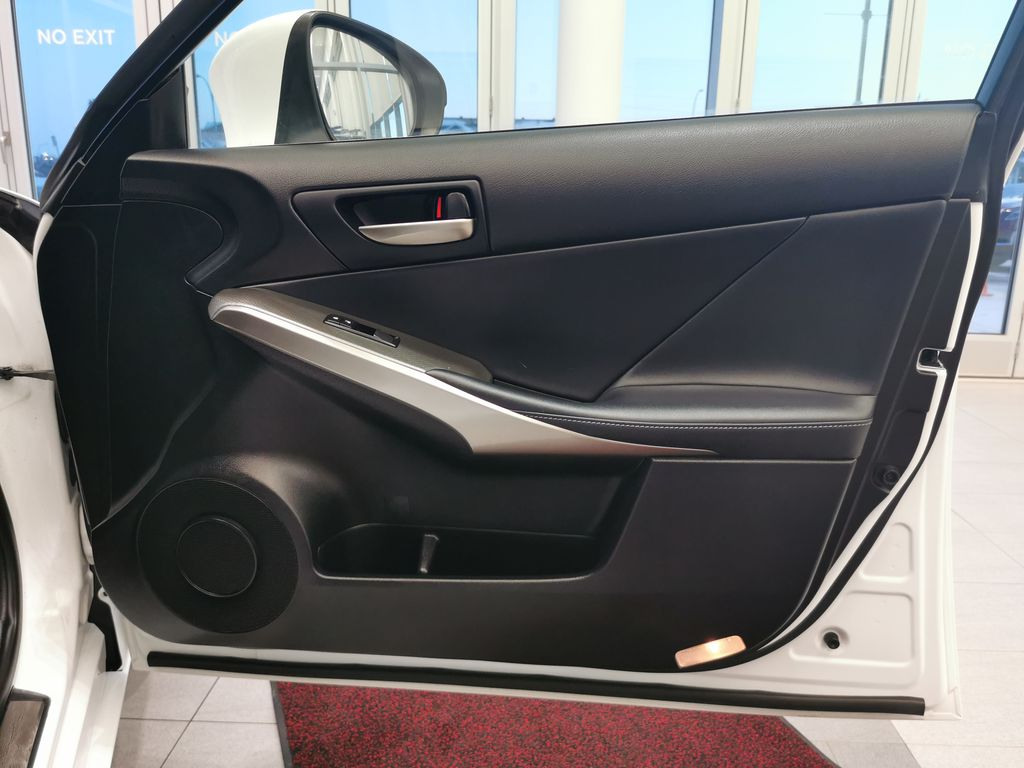 White[Eminent White Pearl] 2018 Lexus IS Right Front Interior Door Panel Photo in Edmonton AB