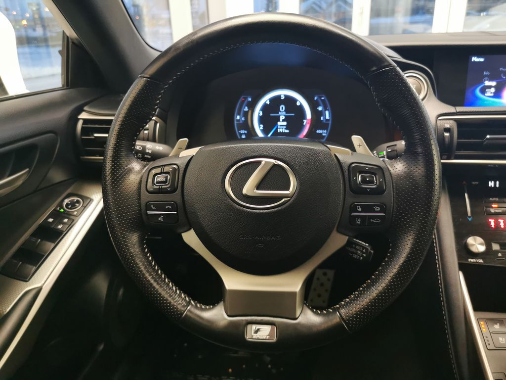 White[Eminent White Pearl] 2018 Lexus IS Steering Wheel and Dash Photo in Edmonton AB