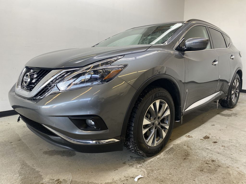 GREY 2018 Nissan Murano SV - Remote Start, Apple CarPlay, NAV Left Front Corner Photo in Edmonton AB